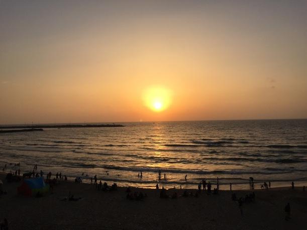 Solnedgång över Gaza