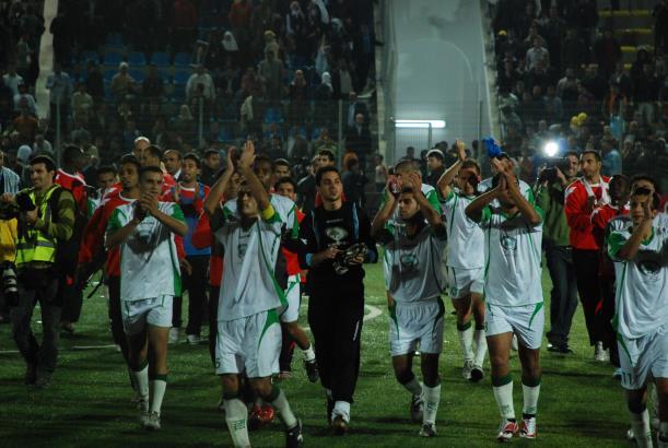 Palestina - Jordanien 1-1. Första matchen på palestinsk mark. (Foto: Anna Wester)